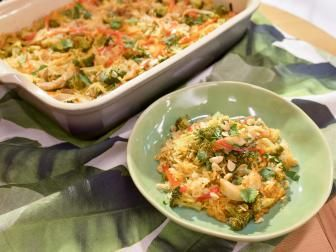 Spicy Thai Red Curry Chicken Casserole Recipe...sub in shirataki noodles and tofu or paneer for protein.