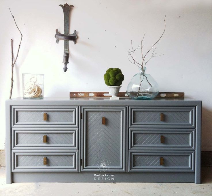 Dixie And Benjamin Moore Amherst Gray. Gray Painted DressersGray  DresserPainted ...