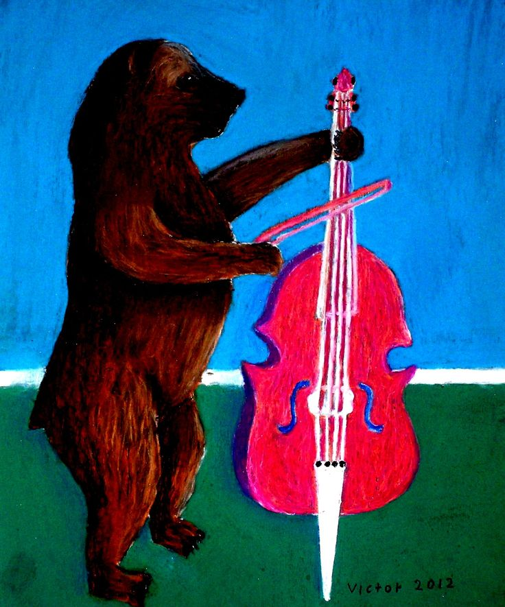 Cellisten, pastell på papper. The cellist, pastel on paper.