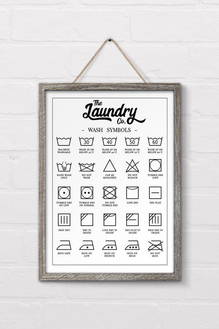 Free Printable Laundry Symbols Wall Art – #d … – #Printable #Free # # …