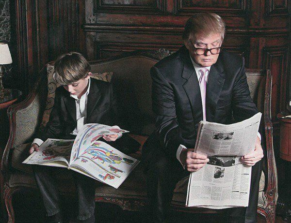 So cute. Maybe one of my favorite pictures of Donald Trump. Like father like son l Deplorable MD on Twitter