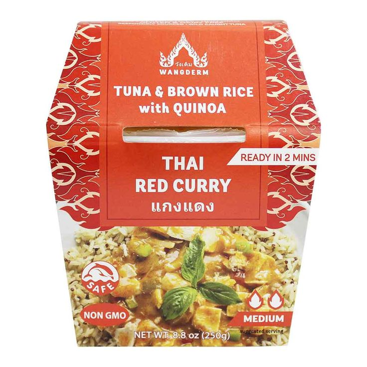 Wangderm Tuna & Brown Rice with Quinoa and Thai Red Curry 8.8 oz. (250 g)