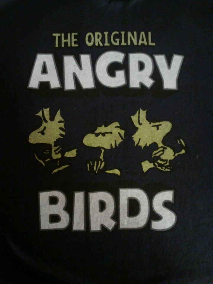 The Original Angry Birds! Peanuts Woodstock - Found on a shirt at Meijer :)