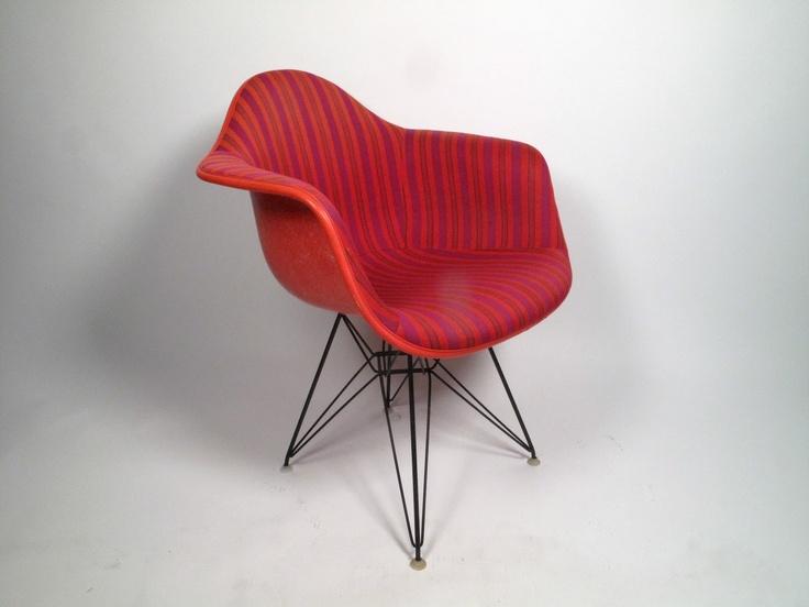 Charles Eames Red Fiberglass Arm Shell For Herman Miller
