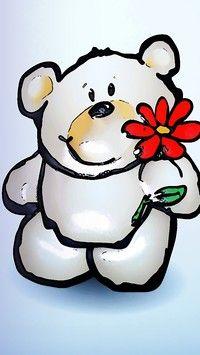 Uśmiechnij się do misia a dostaniesz kwiatek