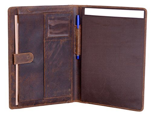 KomalC Genuine Leather Business Portfolio, Personal Organ...
