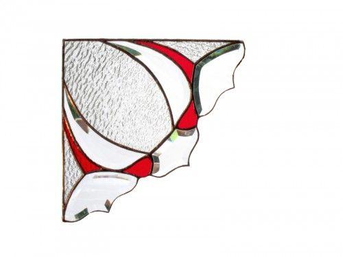 Stained Glass Window Valance Victorian Window Corners PAIR