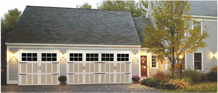 The Carriage House Style Garage Doors Enhance The Curb Appeal Of Your Home  While Providing Superior
