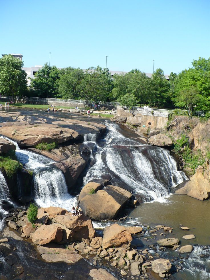 Falls on the Reedy   Greenville, SC  This is a relaxing and inspiring area of Greenville.  It is a park with a great walking path that connects restaurants, shops and greenspaces!    Greenville, SC