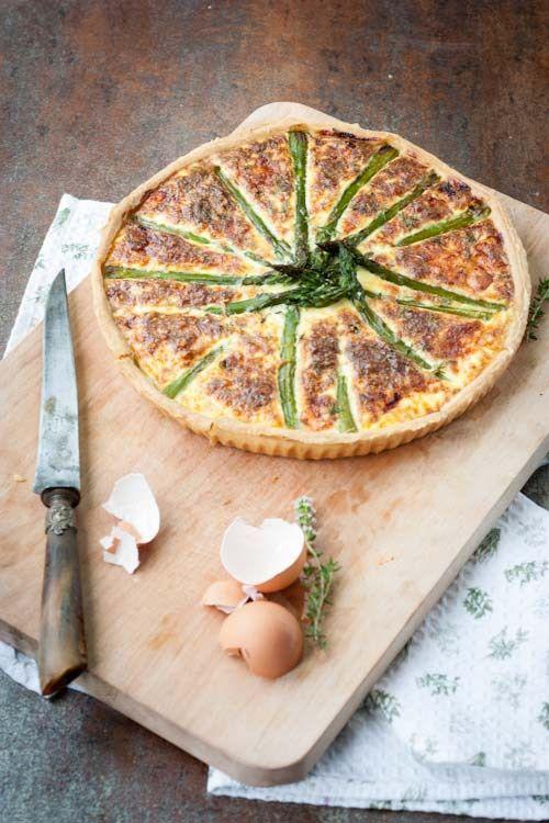 tarte asperge, beaufort, jambon cru