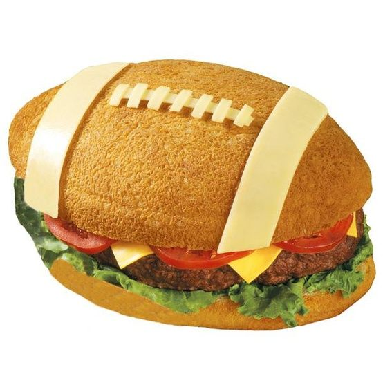 Football burger or sub sandwich. First and Ten pan from Wilton