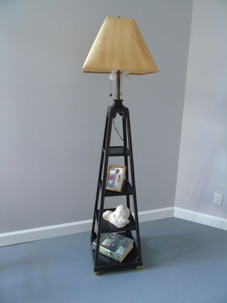 25 best floor lamp with shelves ideas on pinterest for Floor lamp with shelves