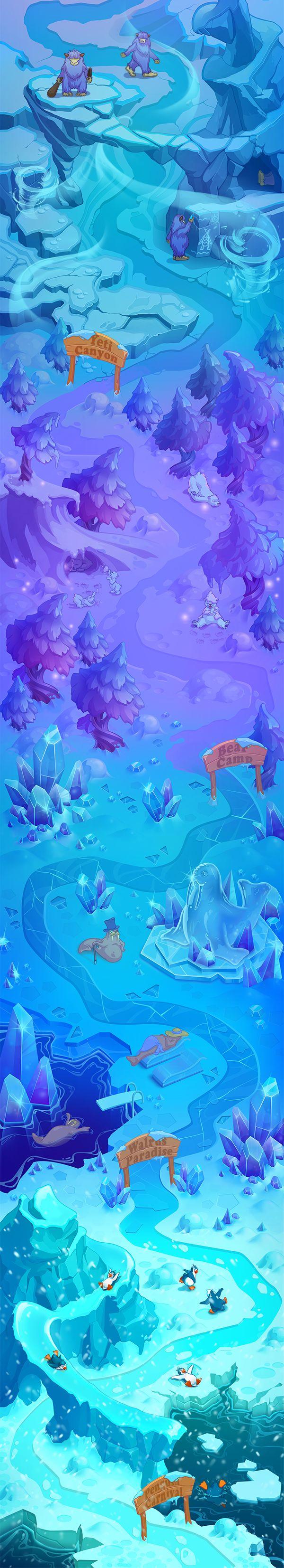 IceWorld map on Behance