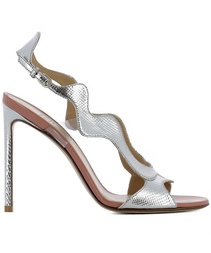 FRANCESCO RUSSO | Francesco Russo Silver Leather Sandals #Shoes #FRANCESCO RUSSO