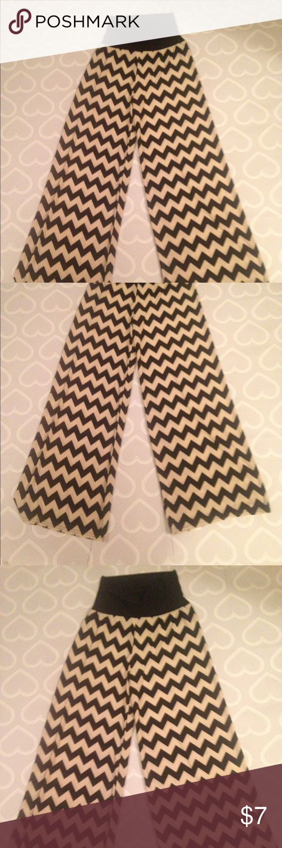 Women's chevron pants size small palazzo pants Super cute palazzo pants- chevron size small. These are very soft and are so comfortable! All purchases ships next business day 💕 park avenue Pants