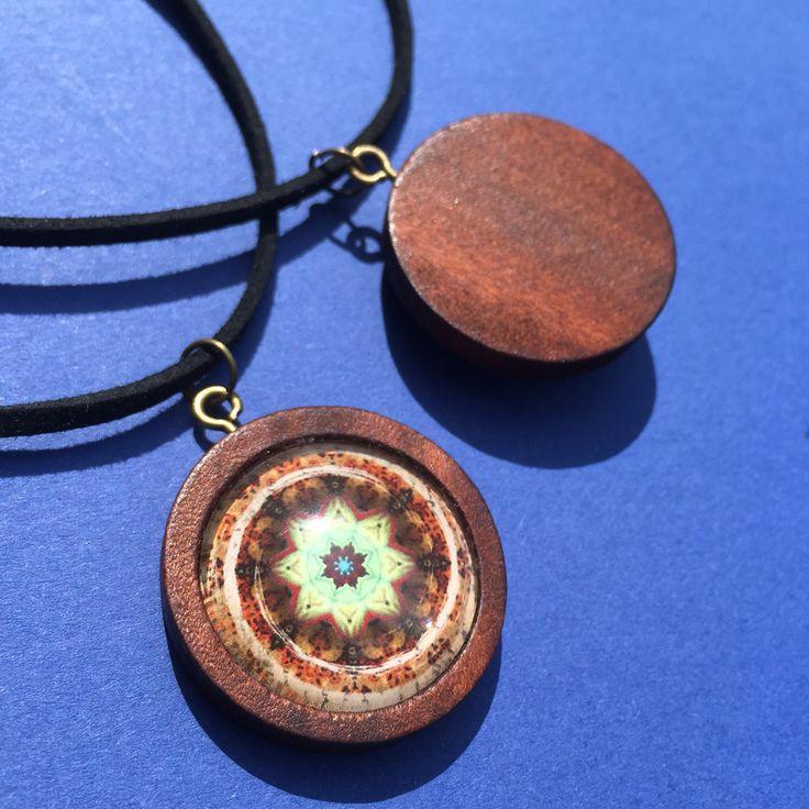 Mandala jewellery  Pendant  Boho Hippie Wooden jewellery