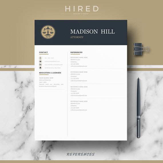 Letal Resume Template for Word: Madison   - 100% Editable. - Instant Digital Download. - US Letter & A4 size format included. - Mac & PC Compatible using Ms Word.  Attorney Resume Template for MS Word. Lawyer Resume. If you like this template but you are not a Lawyer, you can adapt it for your profession. All our templates are easily editable 100%