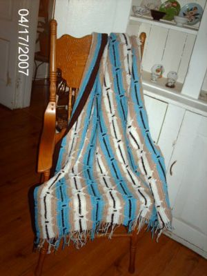 Navajo Indian Multi-Colored Afghan | Craftingranny's Craft & Sewing Room  Different hook size for this one.