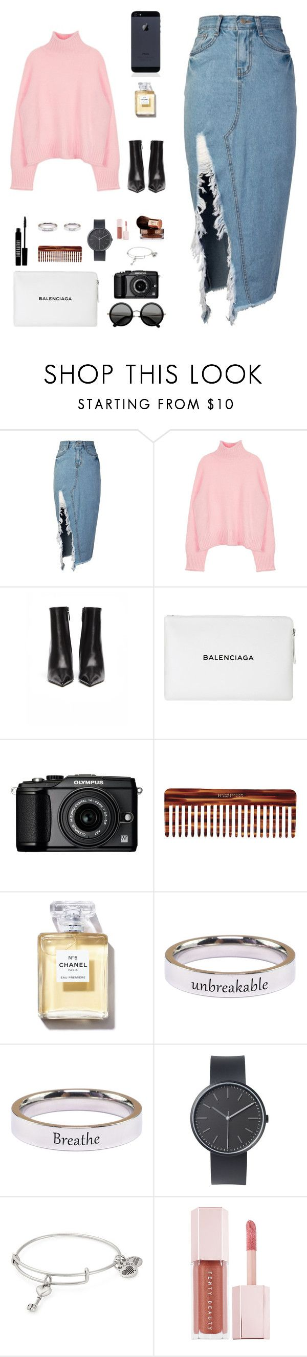 """""""Sin título #962"""" by nbl1593 ❤ liked on Polyvore featuring storets, Balenciaga, Lord & Berry, The Row, Olympus, Mason Pearson, Pink Box, Uniform Wares, Alex and Ani and Puma"""