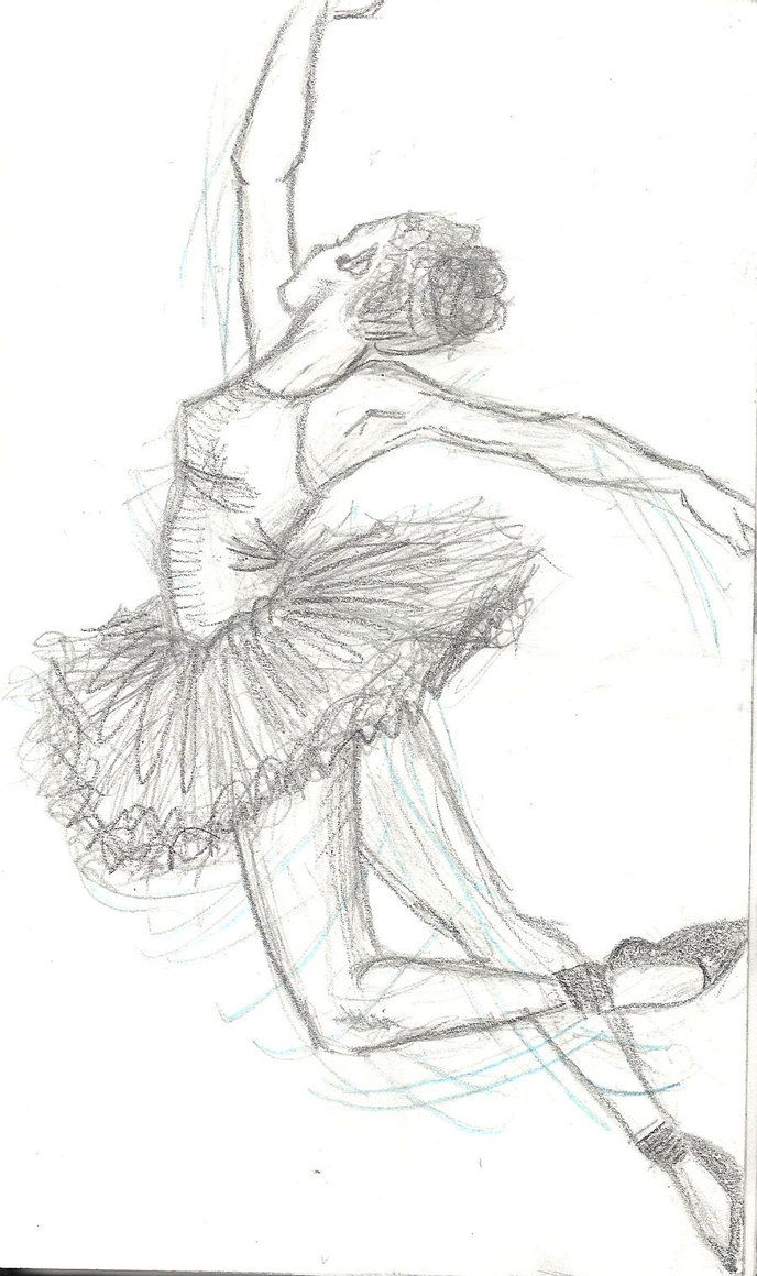 ballerina pencil drawing - photo #34