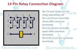 14 Pin Relay Connection Diagram - Finder 14 Pin Relay ...