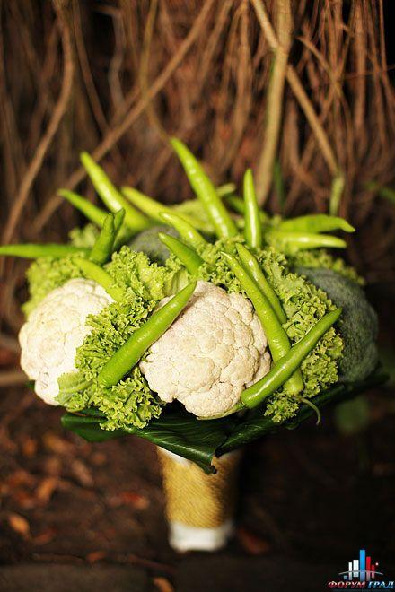 Необычная интерпретация овощей - Из цветов живых свадебные украшения изящны и прелестны, вне всякого сомнения