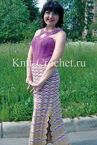 Vestido combinado (ganchillo)