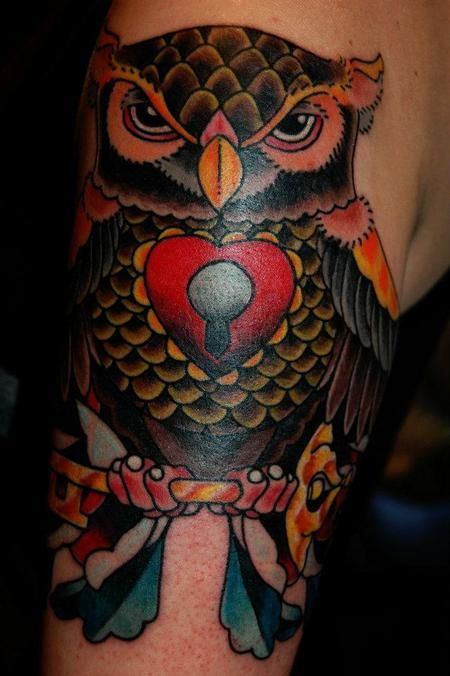 28 best Traditional Owl Tattoos images on Pinterest ...