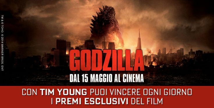 Il 15 maggio Godzilla arriva nei cinema! Ancora una volta con #TIMYoung #6protagonista: prova a vincere gli esclusivi biglietti per le anteprime e le fighissime t-shirt del film! http://cinema.timyoung.it/