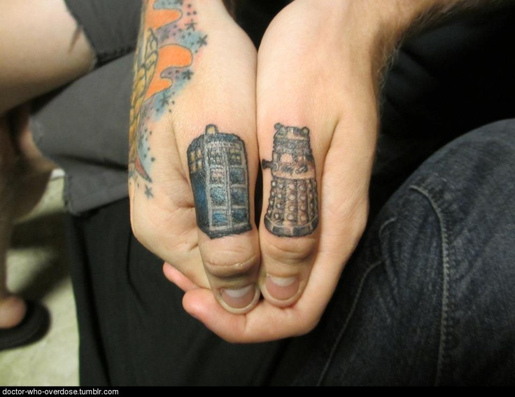 Doctor Who tattoo. This one I pin for my son the total whovian.