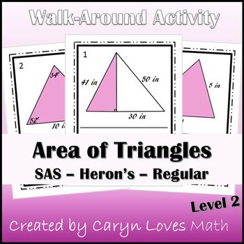 The 25 best triangle formula area ideas on pinterest formula of area of triangles walk around activitysasheronspythagoreanshs geometry ccuart Images