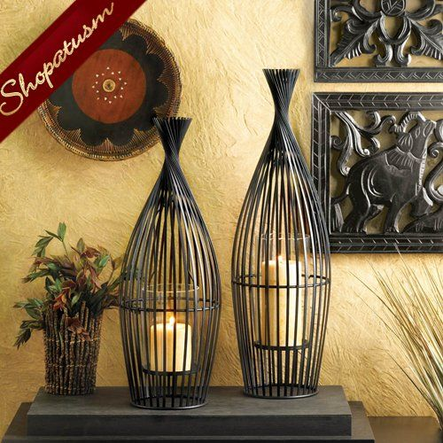 Exotic Large Wire Vase Decorative Centerpiece Candle Holder Pinterest Large Candle Holders