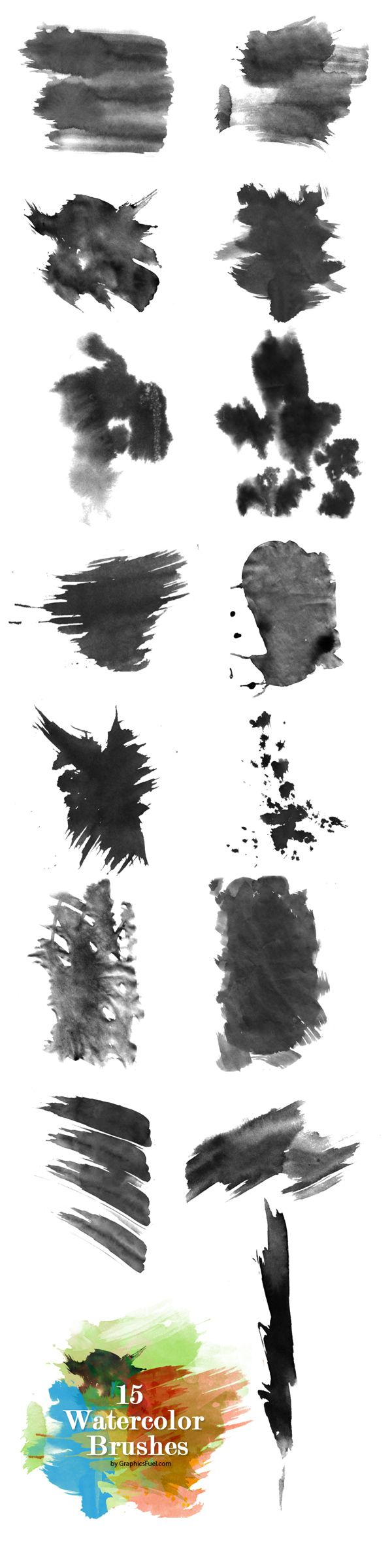Watercolor Brushes Preview