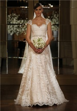 Sweetheart A-Line Wedding Dress  with No Waist/Princess Seams in Lace. Bridal Gown Style Number:32983009