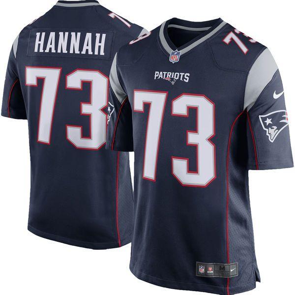 John Hannah New England Patriots Nike Retired Player Game Jersey - Navy Blue - $99.99