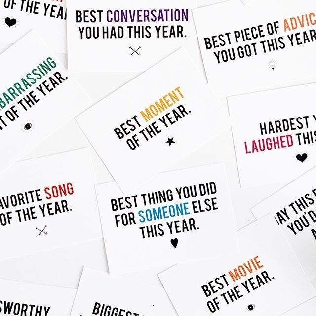 """What was your best moment this year? Or the best piece of advice you received? The hardest you laughed in 2016? All these questions and more in our favorite New Year's Eve Game that you can get on the blog. Head over and search """"new years game"""" for the free printable! Happy New Year!"""