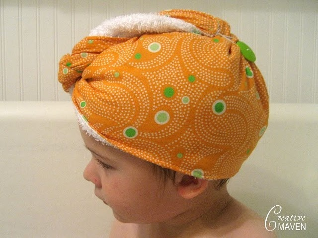spa hair wrap -- adult and child sizes