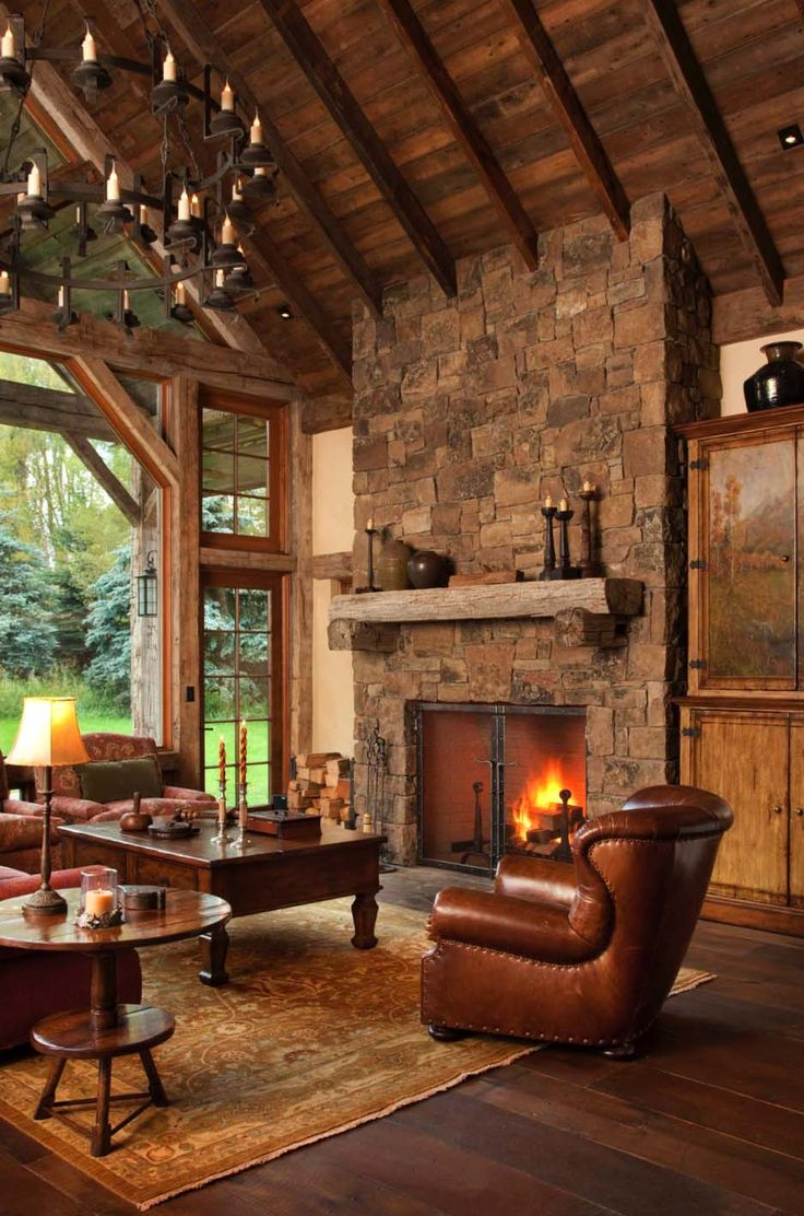 44 Ultra cozy fireplaces for winter hibernation  Luxury Living RoomsRustic   766 best Rusticos  rustic images on Pinterest   Architecture  Log  . Rustic Living Room Designs. Home Design Ideas