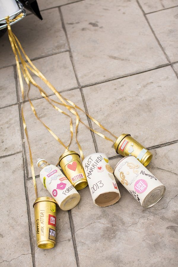 """Love these """"Just Married"""" cans! www.traceymevents.ca  Photos: www.avenue-photo.com"""