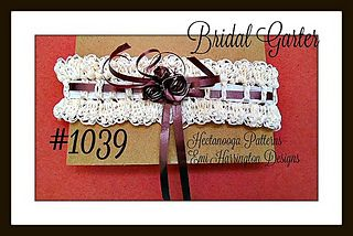 CROCHET PATTERN - BRIDAL GARTER, wedding accessories-