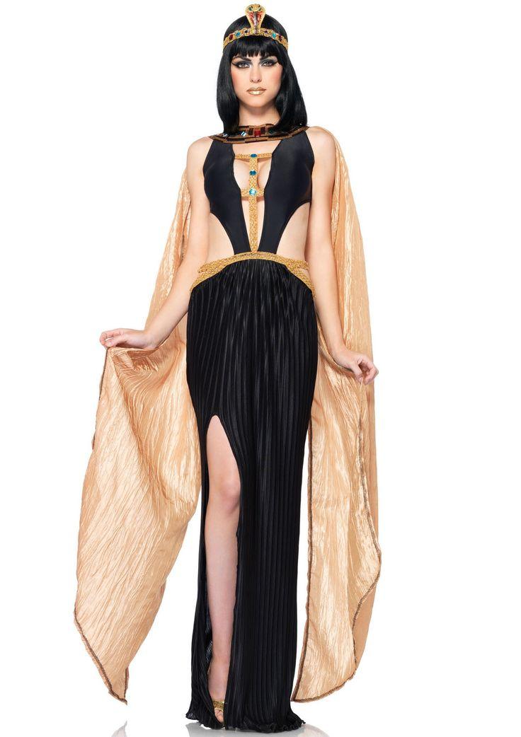 <p><span>Cleopatra is verleidelijker dan ooit tevoren. Grote uitsnedes, een diepe V-hals aan de voorzijde en een hoge split maken dit kostuum ontzettend sexy. Deze Cleopatra outfit bestaat uit een lange jurk met juweel accenten, een vastzittende nek accessoire en een haarband met slang. Dit kostuum is van elastisch materiaal en geproduceerd door Leg Avenue.</span></p><p></p><p><strong>Set bestaat uit:</strong><br />- Cleopatra Jurk<br />- Slangen Haarband</p>