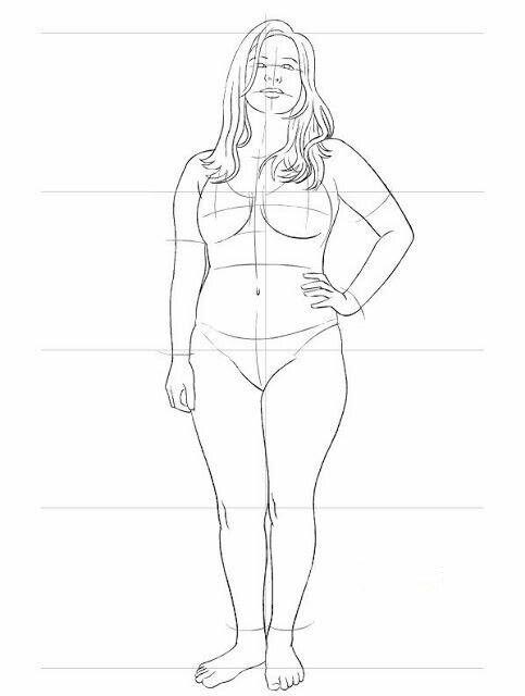 Рисунок женщины карандашом в полный рост