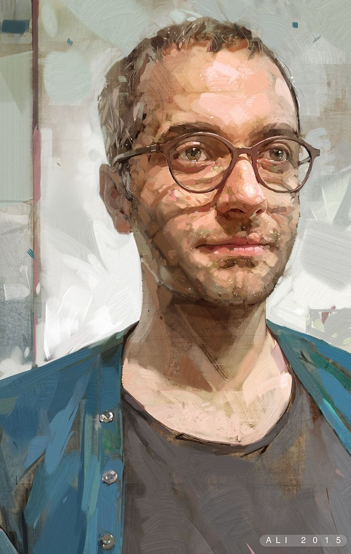 Portrait of Arash, Ali Kiani Amin on ArtStation at https://www.artstation.com/artwork/portrait-of-arash