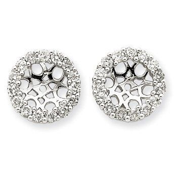 14k White Gold Diamond Earring Jackets. Gold Wt- 5.73g. Carat Wgt- 1.12ct. Jewelry Pot. $1291.99. 100% Satisfaction Guarantee. Questions? Call 866-923-4446. Fabulous Promotions and Discounts!. 30 Day Money Back Guarantee. All Genuine Diamonds, Gemstones, Materials, and Precious Metals. Your item will be shipped the same or next weekday!. Save 62% Off!