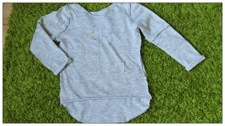 sewing kids t-shirt bluzka dzieci dzianina jersey