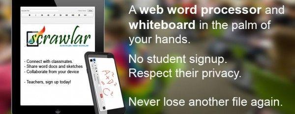 scrawlarScrawlar, procesador de texto web y pizarra colaborativa para profesores y estudiantes
