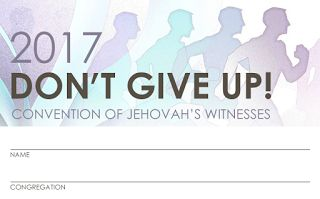 Download Free Don't Give Up! 2017 Regional Convention (of JW) Badge Card | RMO Video