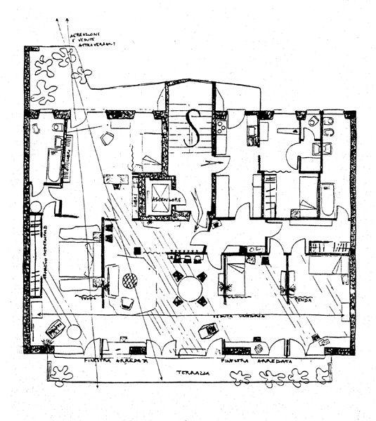 Casa ponti in via dezza gio ponti itinerari ordine for Log casa architetti