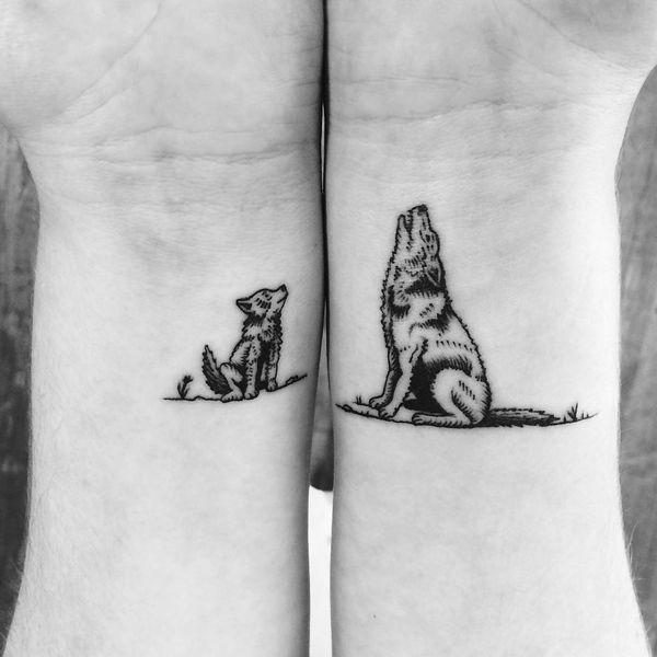 Dessins de tatouage de loup pour les hommes et les femmes