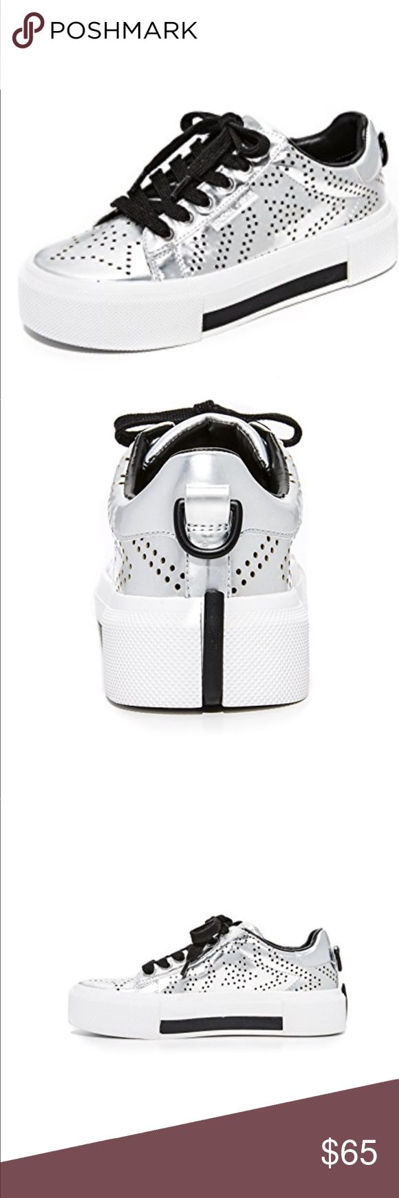 Kendall and Kylie silver sneakers Cool sneakers from Kendall and Kylie . Silver with perforated stars and slight platform bottom. Brand new . Never worn. Kendall & Kylie Shoes Sneakers